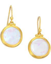 Gurhan - 24k Gold & Pearl Drop Earrings - Lyst