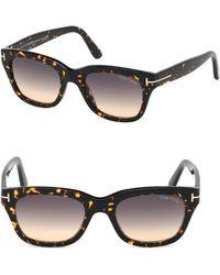 c0c30fe4b83 Tom Ford - Men s Snowdon 52mm Square Sunglasses - Brown - Lyst