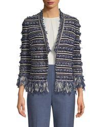 St. John - Knit Tweed Jacket - Lyst