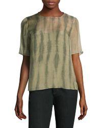 Eileen Fisher - Shibori Short-sleeve Silk Box Top - Lyst