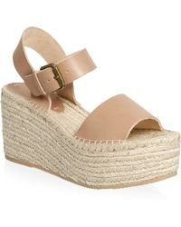 Soludos - Minorca Leather High Platform Sandals - Lyst