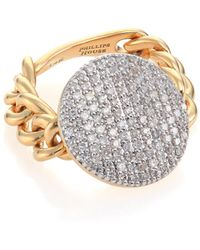 Phillips House - Affair Diamond & 14k Yellow Gold Infinity Chain Link Ring - Lyst