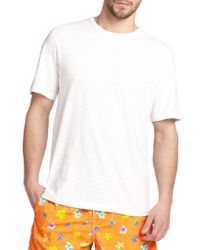 Saks Fifth Avenue - Pima Cotton Crewneck Tee - Lyst