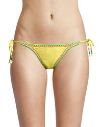 12610edb33 OndadeMar - Women s String Bikini Bottom - Passion Flower - Size Small -  Lyst