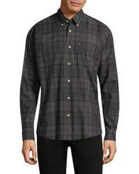 Barbour - Plaid Cotton Button-down Shirt - Lyst