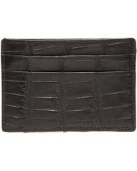 Shinola - Alligator Leather Lined Card Case - Lyst