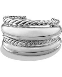 David Yurman - Women's Pure Form Four-row Bracelet In Sterling Silver - Silver - Size M - Lyst