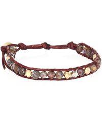 Chan Luu - Pietersite, Crystal & Leather Beaded Bracelet - Lyst