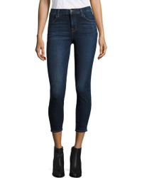 J Brand - Alana High-rise Cropped Skinny Jeans/mesmeric - Lyst