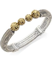 Konstantino - Gaia Etched Hinged Bangle - Lyst