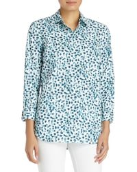 Lafayette 148 New York - Dotted Button-front Shirt - Lyst