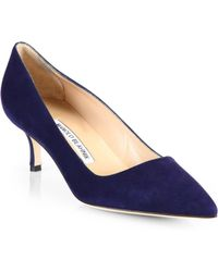 Manolo Blahnik | Bb 50 Suede Pumps | Lyst