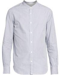 Officine Generale Gaspard Candy Striped Cotton Poplin Shirt