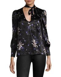 Rebecca Taylor - Floral Star Silk Top - Lyst