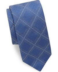 Canali - Dots & Squares Silk Tie - Lyst