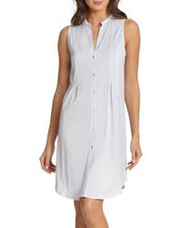 Hanro - Cotton Deluxe Button-front Tank Gown - Lyst