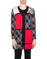 Stizzoli - Mondrian Colorblock Wool Cardigan - Lyst