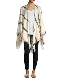 Eileen Fisher - Striped Organic Cotton Poncho - Lyst