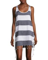 Koza - Lebron Stripe Side-lace Dress - Lyst