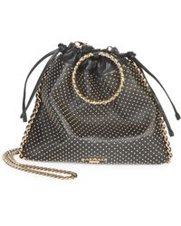 Balmain - Studded Leather Drawstring Backpack - Lyst