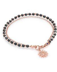 Astley Clarke - Biography Hematite & White Sapphire Sun Beaded Friendship Bracelet - Lyst