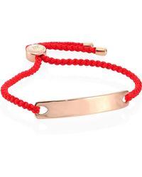 Monica Vinader - Linear Friendship Bracelet/coral - Lyst