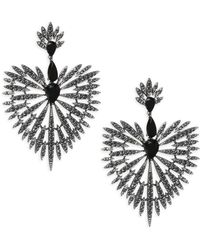 Adriana Orsini - Crystal Burst & Black Rhodium-plated Drop Earrings - Lyst