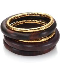 Nest - Women's Ebony Wood Bangle Set - Ebony Wood - Lyst