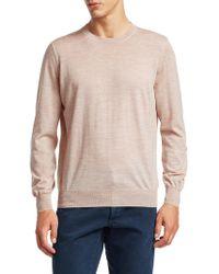 Brunello Cucinelli - Crewneck Elbow Patch Sweater - Lyst