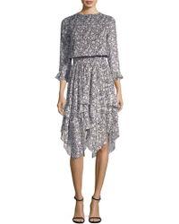 Shoshanna   Koko Silk Dress   Lyst