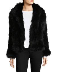 Adrienne Landau - Knit Fox Fur Hooded Jacket - Lyst