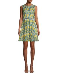 Draper James - Embroidered Fit-&-flare Dress - Lyst