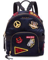 Miu Miu | Patched Mini Backpack | Lyst
