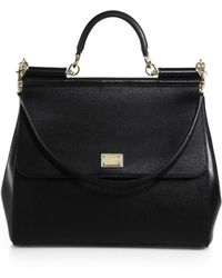 Dolce & Gabbana - Large Sicily Leather Top Handle Satchel - Lyst