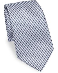 Emporio Armani - Striped Silk Tie - Lyst