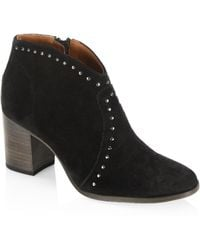 Frye | Nora Studded Suede Ankle Boots | Lyst