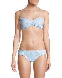 Shoshanna - Maya Ruffle Bandeau Bikini Top - Lyst