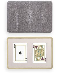 Aerin - Embossed Shagreen Playing Card Case - Lyst