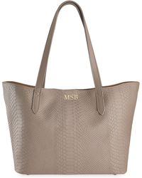 Gigi New York - Teddie Python-embossed Leather Tote Bag - Lyst
