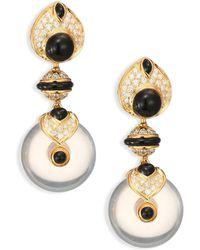 Marina B - Pneu Diamond, Black Jade & 18k Yellow Gold Drop Earrings - Lyst