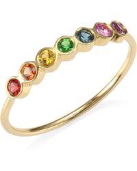 Zoe Chicco - 14k Yellow Gold Rainbow Gemstone Ring - Lyst