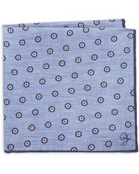 Canali - Floral Embroidered Silk Pocket Square - Lyst