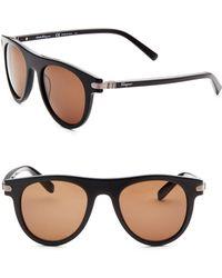 Ferragamo - 51mm Round Sunglasses - Lyst