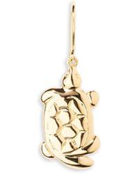 Aurelie Bidermann - 18k Goldplated Turtle Single Earring - Lyst