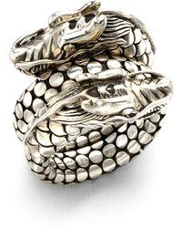 John Hardy - Naga Sterling Silver Dragon Dot Coil Ring - Lyst