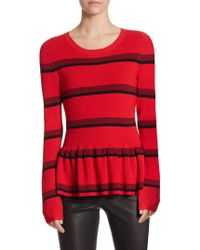 Saks Fifth Avenue - Collection Rib Peplum Sweater - Lyst