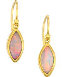 Gurhan - Amulet Hue 24k & 18k Yellow Gold & Marquise Cabochon Opal Drop Earrings - Lyst
