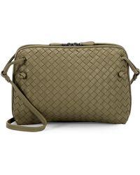 Bottega Veneta - Pillow Intrecciato Leather Crossbody Bag - Lyst 29616923435b2
