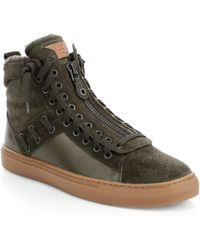 Bally - Hekem Shearling-lined Suede High-top Sneakers - Lyst