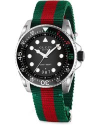e0484f7f3c2 Lyst - Gucci Men s Dive Stainless Steel Watch - Multi Colored for Men